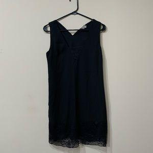 Asos lace detailed slip dress